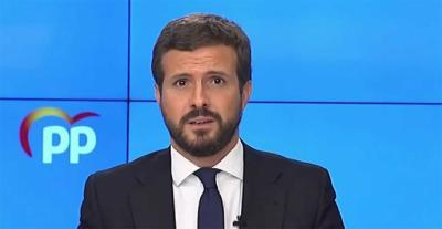 El presidente del PP, Pablo Casado. (imagen de archivo – captura de pantalla)