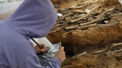 Exhumación de restos de represaliados republicanos en el Monte de La Pedraja (Burgos), realizada por la Sociedad de Ciencias Aranzadi en 2010Óscar Rodríguez
