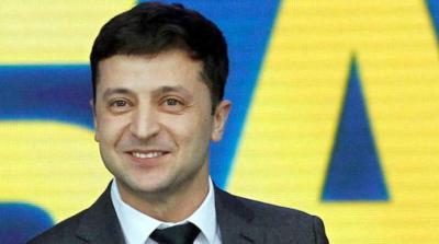 El actor Vladímir Zelenski , nuevo presidente de Ucrania