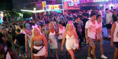 MAGALUF: Drunk partygoers