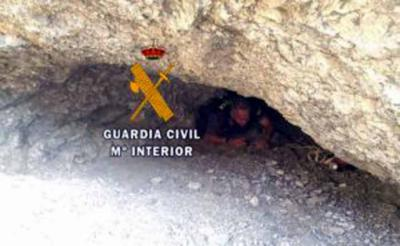 HIDDEN: Officials crawl through caves to find the missing holidaymaker