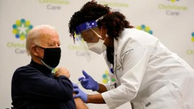Joe Biden, presidente electo de los Estados Unidos recibió la primera dosis de la vacuna de Pfizer/BioNTech contra el covid-19