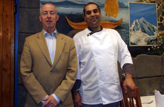 """León Carrillo (i), propietario y """"alma mater"""" del restaurante y Gonzalo Amorós, Chef"""