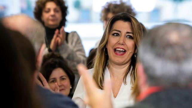Susana Díaz alerta a Ferraz de 'la división en la izquierda' y pide 'un PSOE unido dentro y fuera de Andalucía'