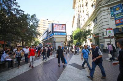 El céntrico Paseo Ahumada de Santiago de Chile, (Imagen de El Desconcierto)
