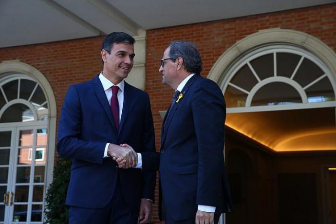 Pedro Sánchez y Quim Torra en una imagen de archivo