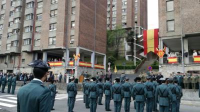 Un acto de la Guardia Civil en Intxaurrondo