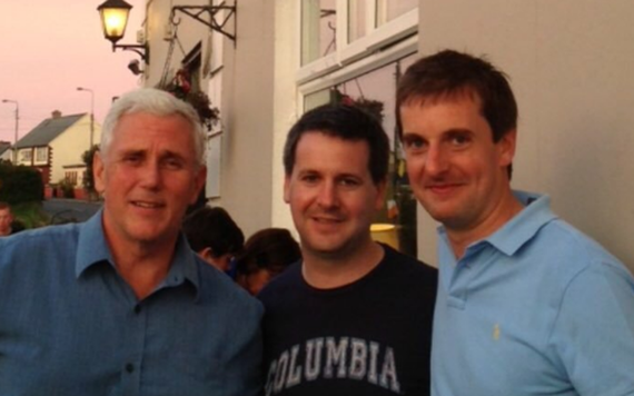 Mike Pence, photographed with his Irish cousins in 2013, outside Morrissey's pub, in Doolin, County Clare.