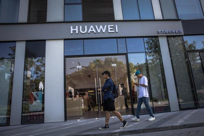El edificio de Huawei en Pekín, China