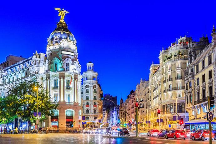 La Gran Vía de Madrid (imagen de referencia