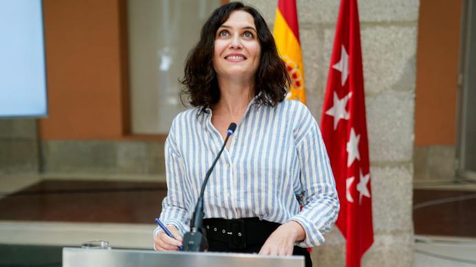 La presidenta de la Comunidad de Madrid en funciones, Isabel Díaz Ayuso.A. Pérez Meca / Europa Press