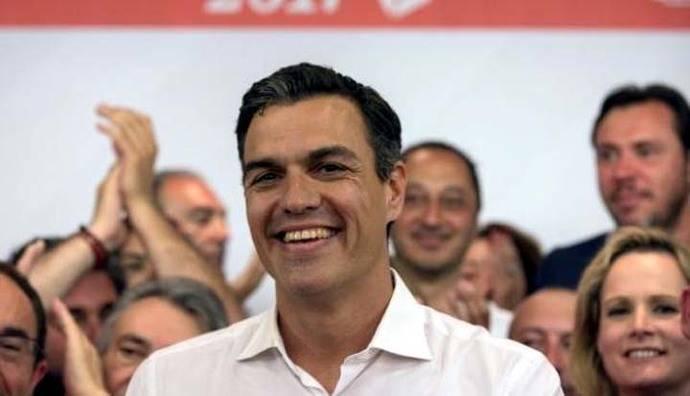 Pedro Sánchez gana las primarias del Partido Socialista