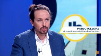 Pabnlo Iglesias este martes en RTVE (captura de pantalla)