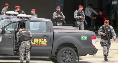 Tropas de la Fuerza Nacional llegan a la ciudad de Fortaleza, en el estado Ceará (Brasil)