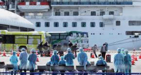 El crucero Diamond Princess estuvo en cuarentena en Yokohama, Japón, por más de 15 días