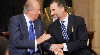 El rey Felipe VI, actual Jefe del Estado junto al rey emérito Juan Carlos I, en una imagen de archivo