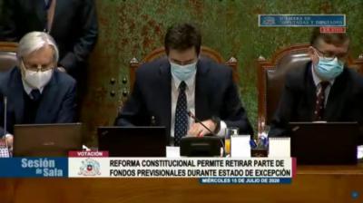 La captura de pantalla corresponde a la tramitación del proyecto en la Cámara de Diputados