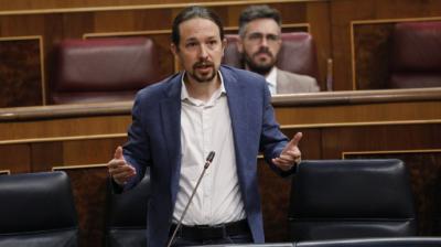 El vicepresidente segundo del Gobierno, Pablo Iglesias, en el CongresoJavi Martínez / Pool