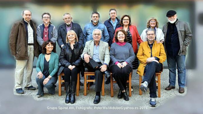 Grupo Spiral XIII en el Taller del Prado: Doce pintores y un escultor, con la presencia todos sus componentes en el Taller del Prado