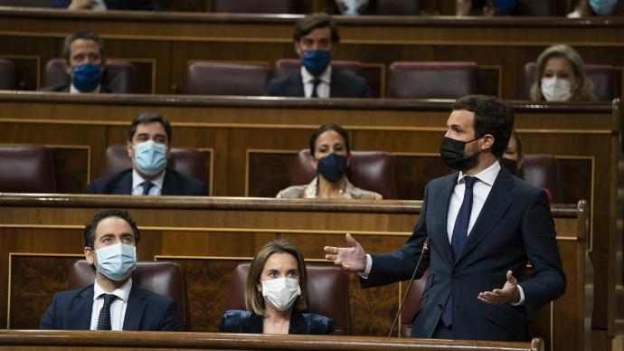 Pablo Casado, durante una intervención en el Congreso.PP