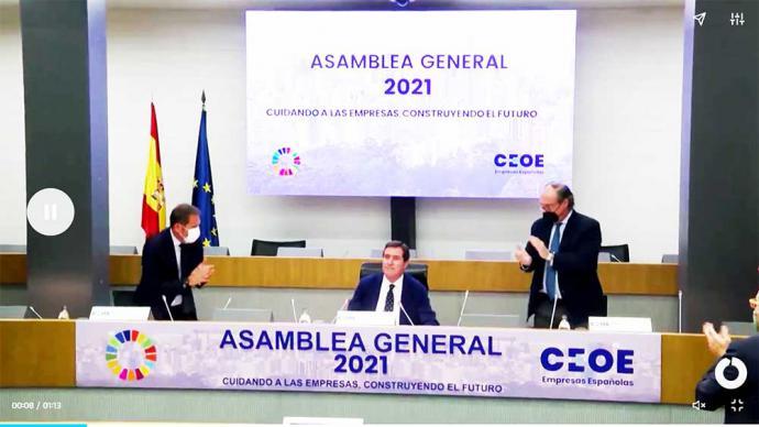 Garamendi se rodea de una CEOE 'unida' frente a las críticas por sus palabras sobre los indultos: 'Ha sido muy injusto'