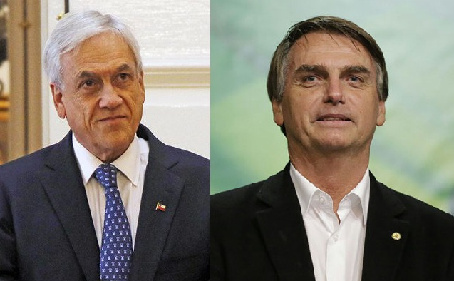 Sebastián Piñera(i) y Jair Bolsonaro