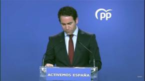 El secretario general del PP, Teodoro García Egea, en imagen de archivo. (captura de pantalla)