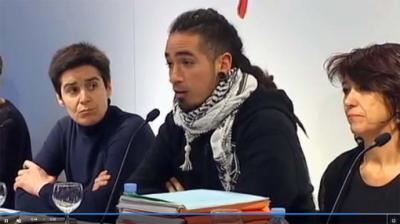Rodrigo Lanza en una de las sesiones del juicio. Imagen de archivo (captura de pantalla)