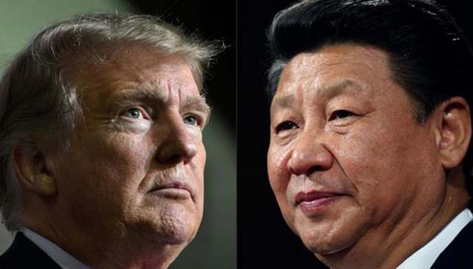 El presidente de Estados Unidos, Donald Trump y su homólogo  de China, Xi Jinping,