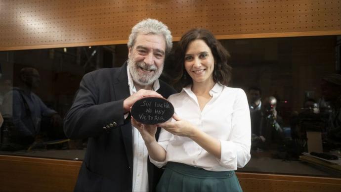La presidenta de la Comunidad de Madrid, Isabel Díaz Ayuso, y su jefe de gabinete, Miguel Ángel Rodríguez.