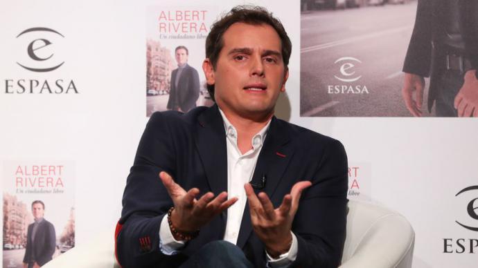 Albert Rivera en la presentación de su libro el 22 de septiembre.Sergio R. Moreno / Gtres