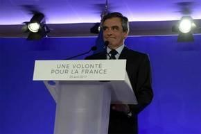 François Fillon durante un discurso para su campañ, en una imagen de archivo...