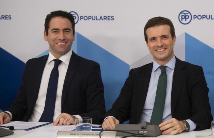 García Egea junto a Pablo Casado