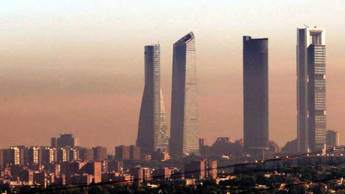 •La contaminación en Madrid se puede observar a simple vista