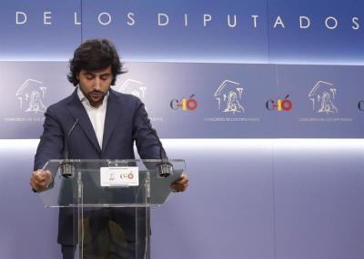 El portavoz de Economía de Ciudadanos en el Congreso, Toni Roldán