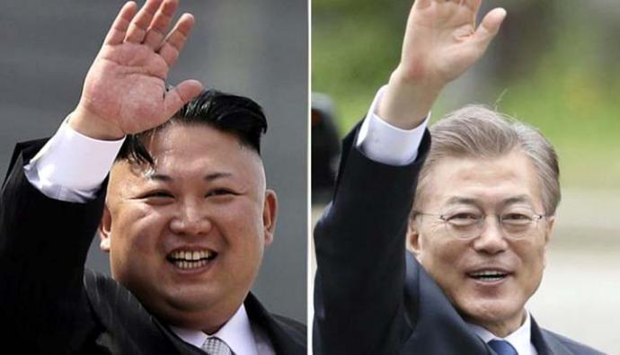 El líder de Corea del Norte, Kim Jong-un, y el presidente de Corea del Sur, Moon Jae-in, se reunirán a finales de abril.