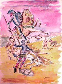 """""""El Quijote de Samper"""" en la sala de exposiciones Domus Artis de El Toboso (Toledo)"""