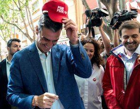 Pedro Sánchez, ayer en un acto de campaña en Baleares.