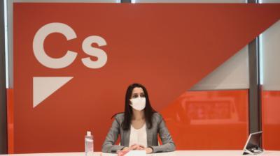 La presidenta de Ciudadanos, Inés Arrimadas, en una reunión del Comité Ejecutivo del partido.Eduardo Parra - Europa Press
