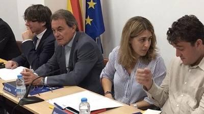 Puigdemont, Mas y Pascal, en una imagen de archivo