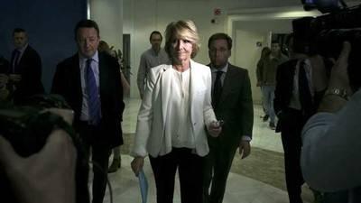 Esperanza Aguirre presenta su dimisión por el caso de Ignacio González