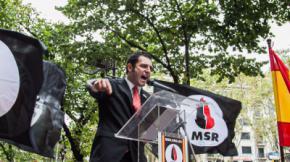 El dirigente de Vox Jordi de la Fuente, cuando formaba parte del partido neonazi MSR.Jordi Borràs