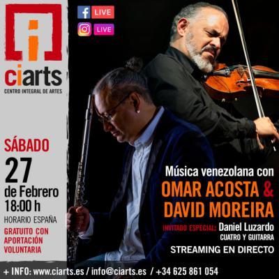 David Moreira y Omar Acosta realizan concierto en streaming de música venezolana