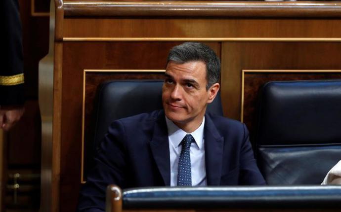 El candidato socialista a la Presidencia del Gobierno, Pedro Sánchez