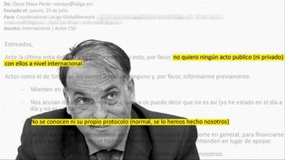 Javier Tebas, presidente de La Liga y los mensajes de su equipo