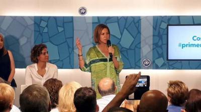 Cospedal defiende una candidatura única tras la segunda vuelta.