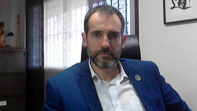 El portavoz parlamentario de Vox, Juan José Liarte