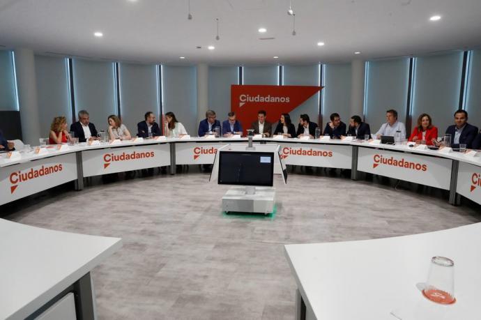 Los componentes del comité ejecutivo de Ciudadanos