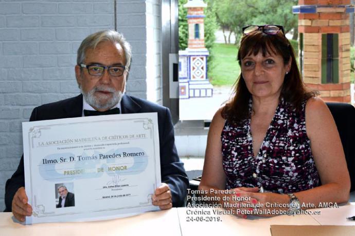 Tomás Paredes, Presidente de Honor de la Asociación Madrileña de Críticos de Arte, AMCA