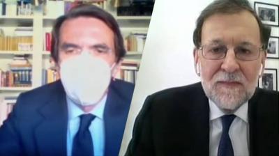 Aznar y Rajoy en sus declaraciones en el juicio de la Caja B